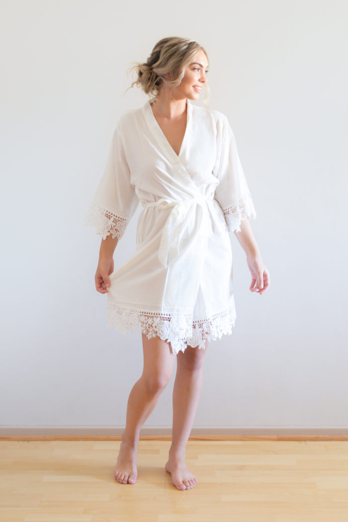 White Bridesmaid Robes