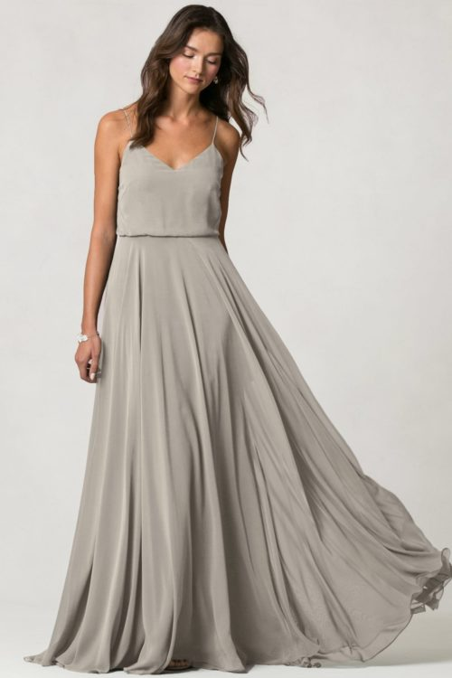 Inesse Bridesmaids Dress by Jenny Yoo - Earl Grey