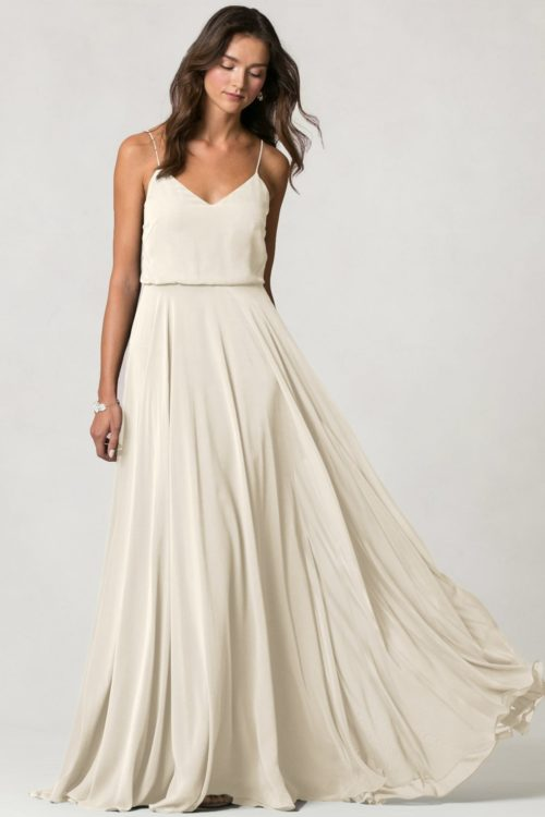 Inesse Bridesmaids Dress by Jenny Yoo - Winter White
