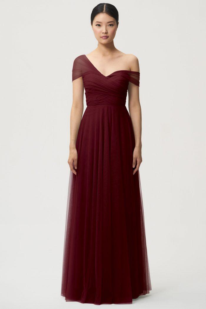 Julia Bridesmaids Dress by Jenny Yoo - Cabernet