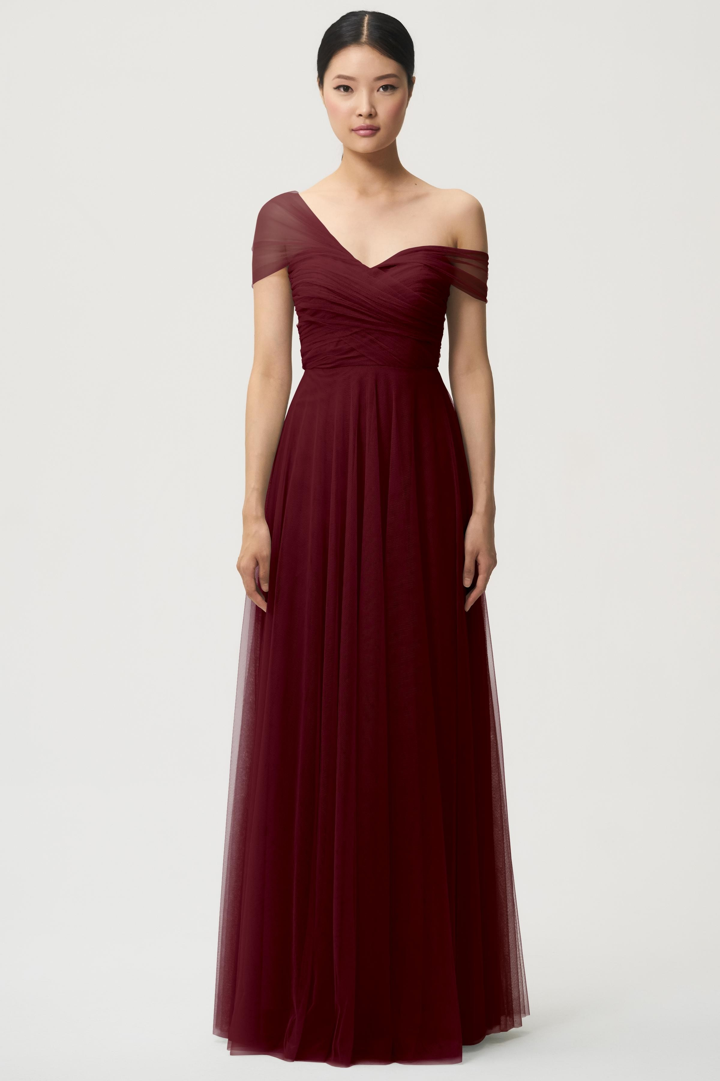 Julia Bridesmaids Dress By Jenny Yoo Cabernet