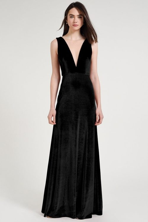 Logan Bridesmaids Dress by Jenny Yoo - Black