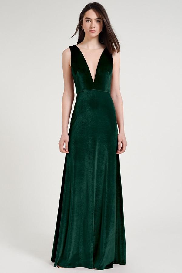 Logan Bridesmaids Dress by Jenny Yoo - Emerald