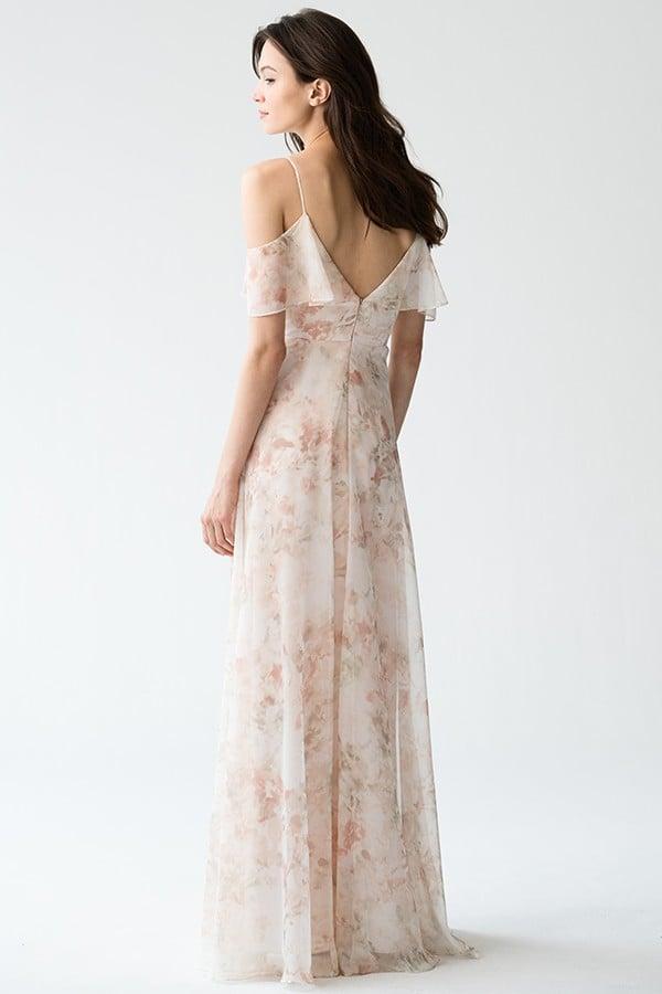 Mila Print Bridesmaids Dress by Jenny Yoo - Watercolour Blush
