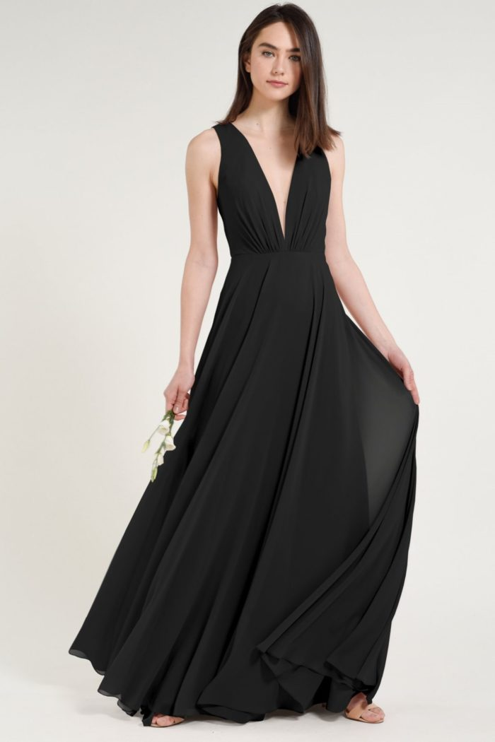Ryan Bridesmaids Dress by Jenny Yoo - Black