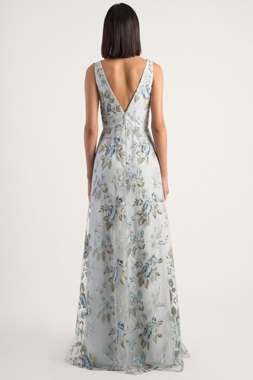 Embroidered Tatum Bridesmaids Dress by Jenny Yoo - Serenity Blue