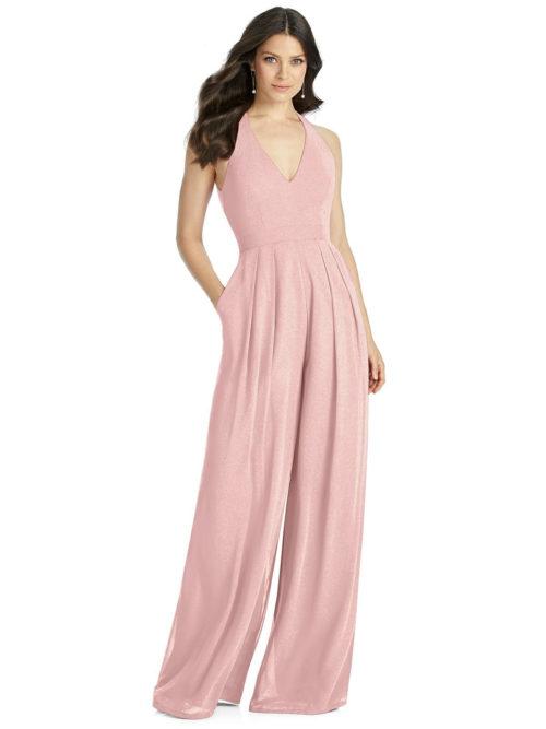 Rose Gold Pink Bridesmaids Dress