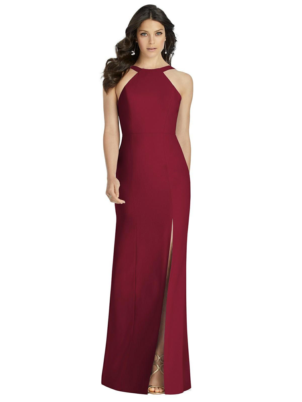 Burgundy Red Bridesmaids Dress