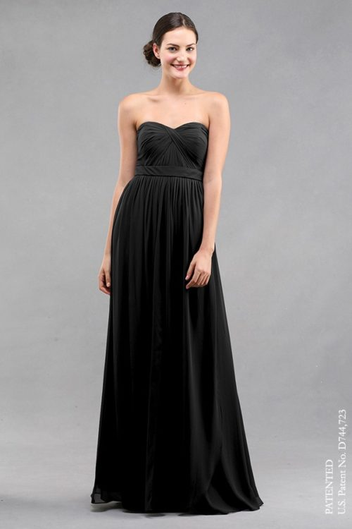 Aidan Black Bridesmaids Dress