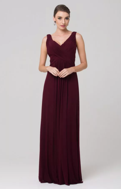 Amber Bridesmaids Dress by Tania Olsen - Wine