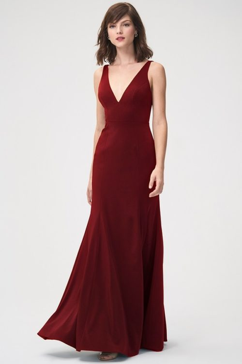 Jade Bridesmaids Dress by Jenny Yoo - Cranberry