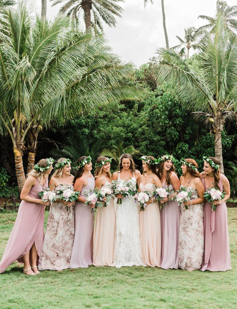 Bridesmaids only mix and match bridesmaids dresses