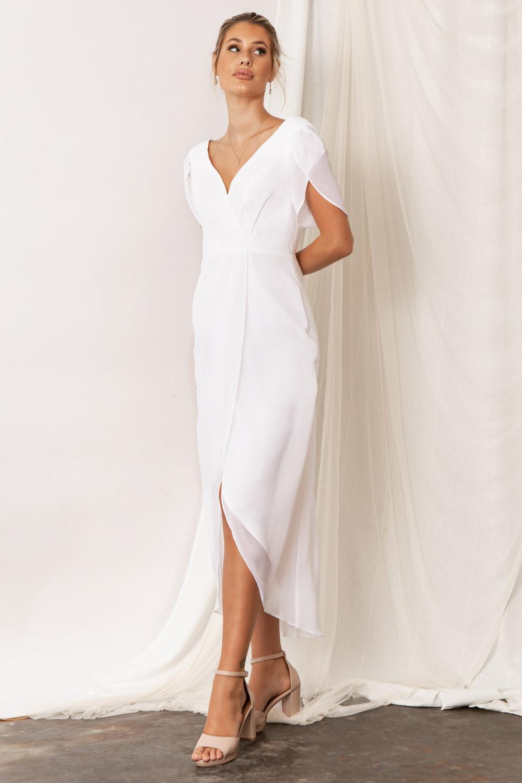 Zara Bridesmaid Dresses by Talia Sarah in white