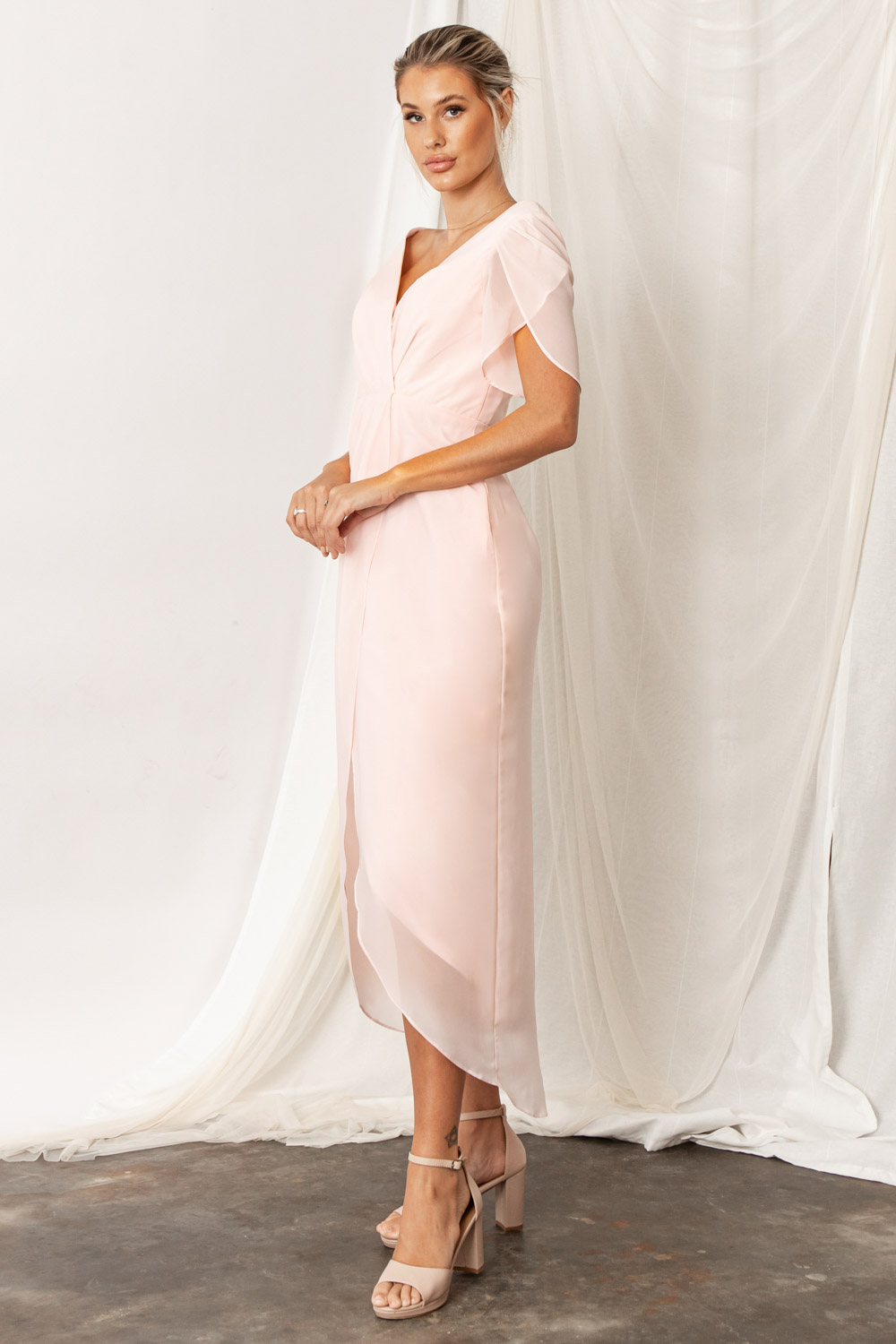 zara-core-bridesmaids-dress-ballerina soft light pink