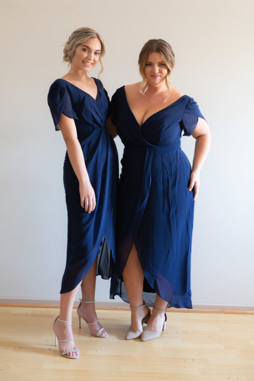 Zara Navy Bridesmaids Dress by Talia Sarah