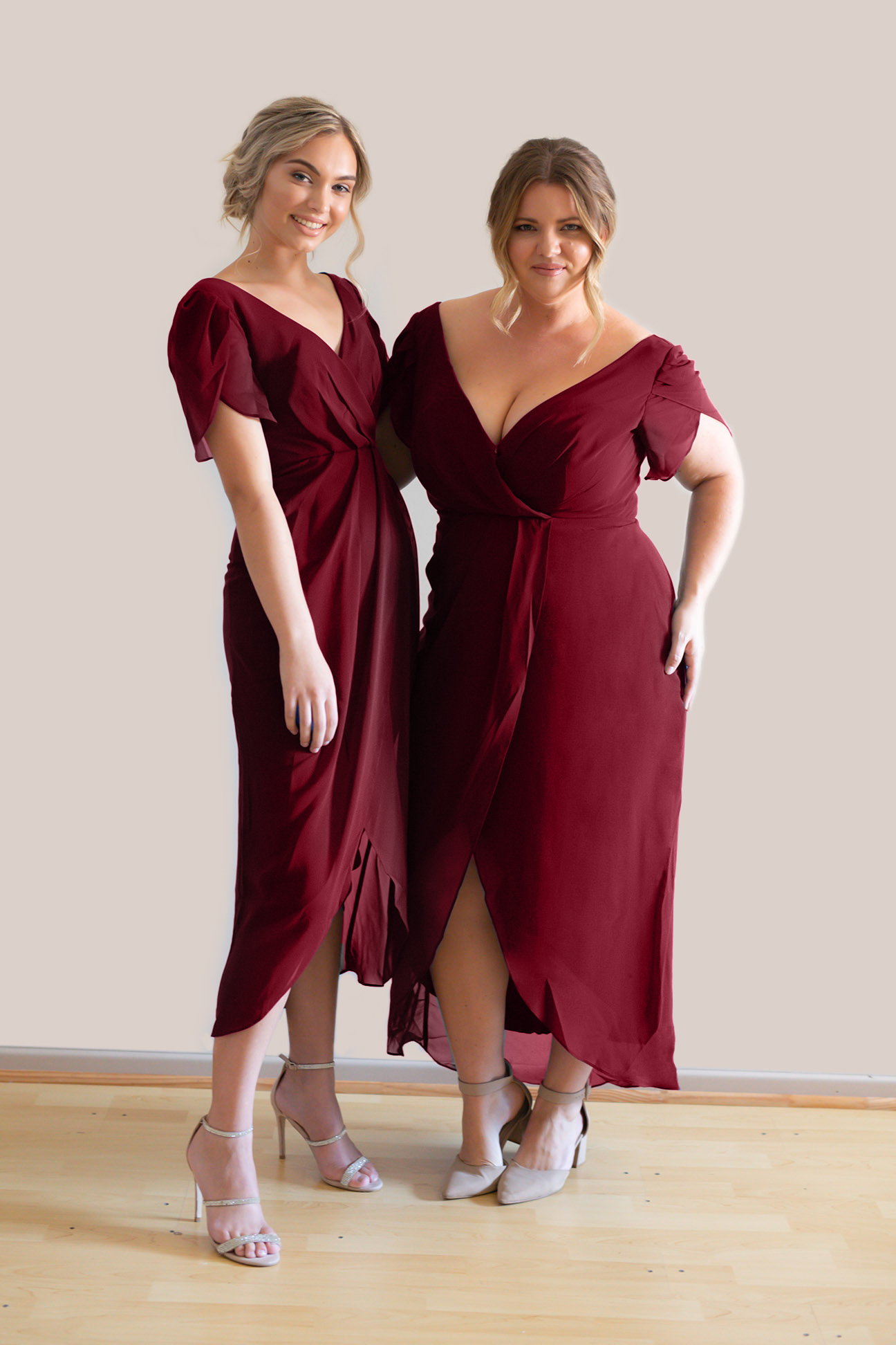 Talia Sarah Zara Mahogany Bridesmaids Dress