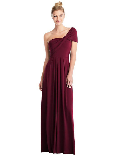 Convertible Loop Bridesmaids Dress by Carlos Saavedra - Cabernet