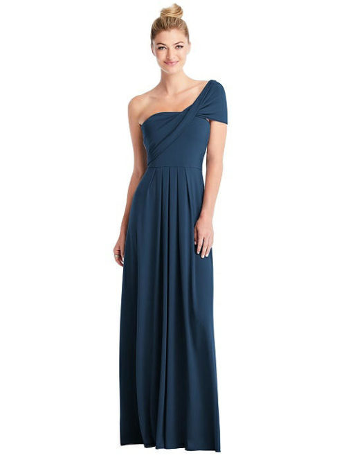 Convertible Loop Bridesmaids Dress by Carlos Saavedra - Sofia Blue