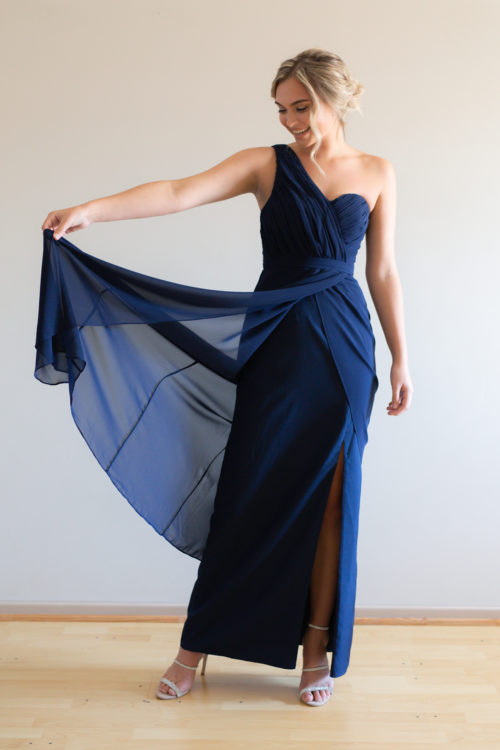 Millie Chiffon Navy Bridesmaids Dress by Talia Sarah