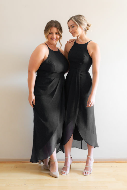 Skye Racer Back Black Bridesmaids Dress by Talia Sarah