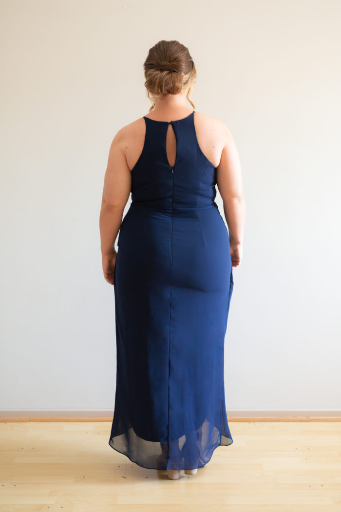 Skye Racer Back Navy Blue Bridesmaids Dress by Talia Sarah