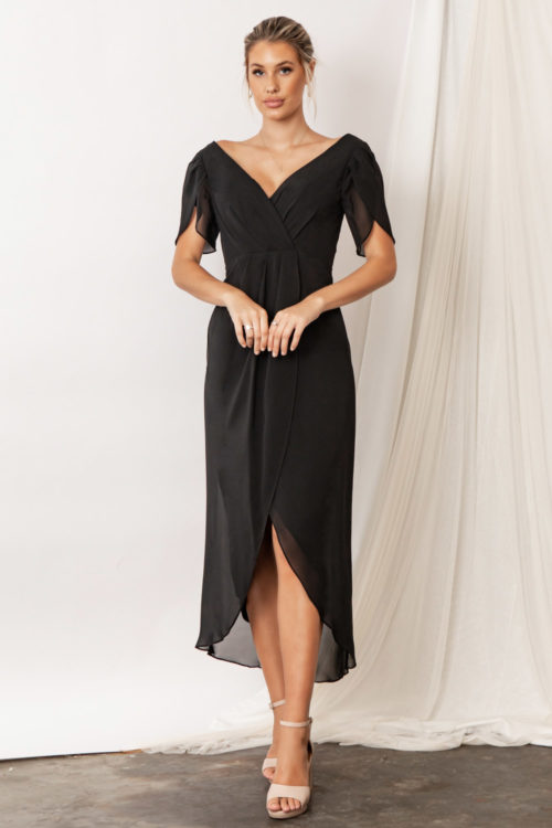 Zara Black Bridesmaid Dresses by Talia Sarah
