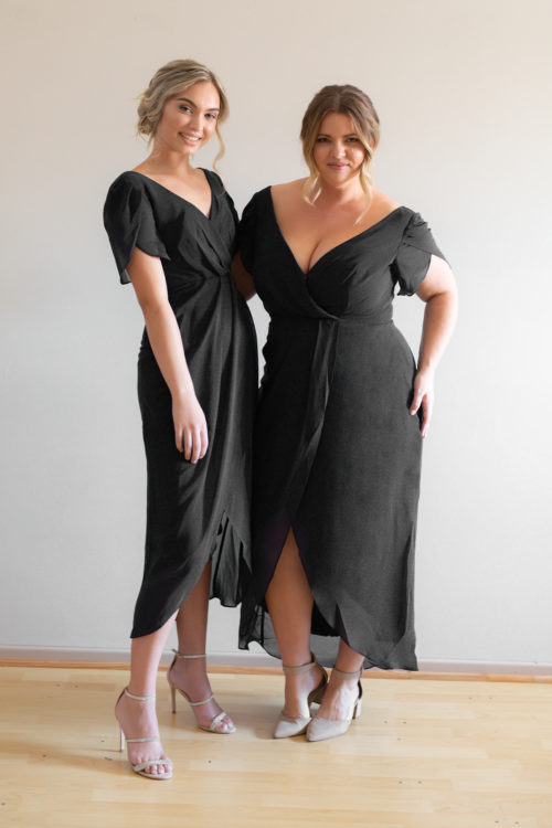 Zara Black Bridesmaids Dress by Talia Sarah Plus Size