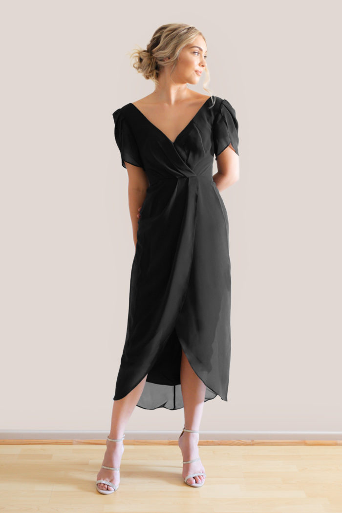 Zara Black Bridesmaids Dress