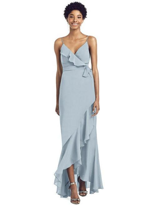 Sammie Mist Blue Bridesmaids Dress by Dessy