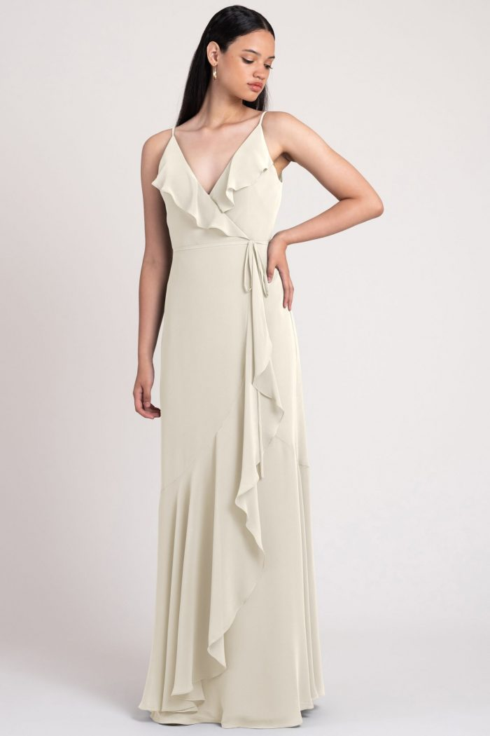 Ensley Bridesmaids Dress by Jenny Yoo - Winter White