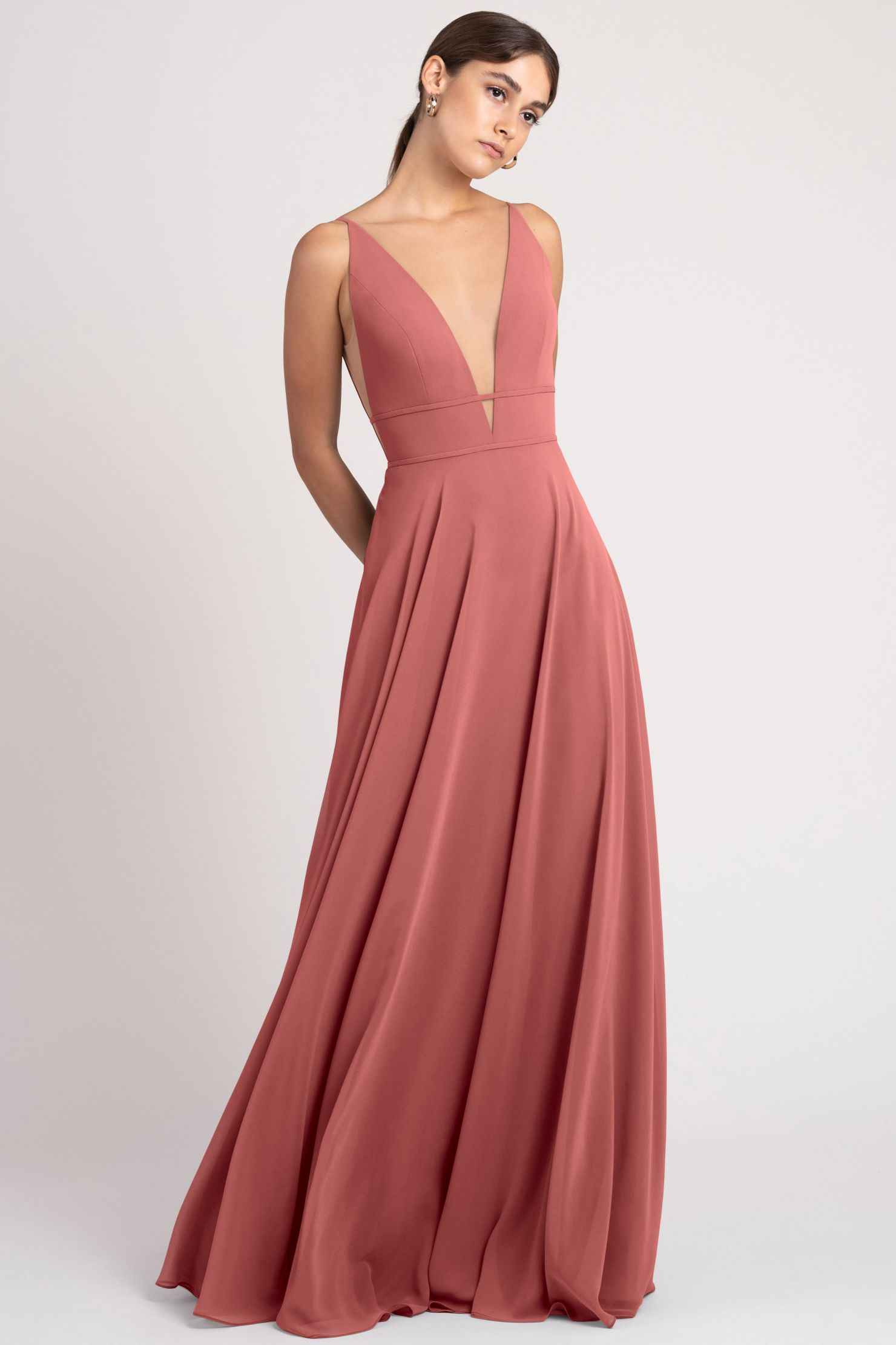 Hollis Bridesmaids Dress by Jenny Yoo - Dusty Rose