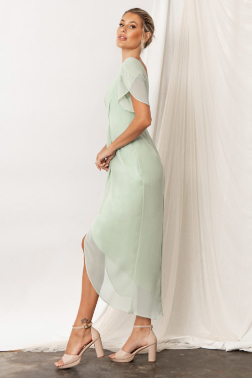 Zara Bridesmaid Dresses by Talia Sarah in Sage Green