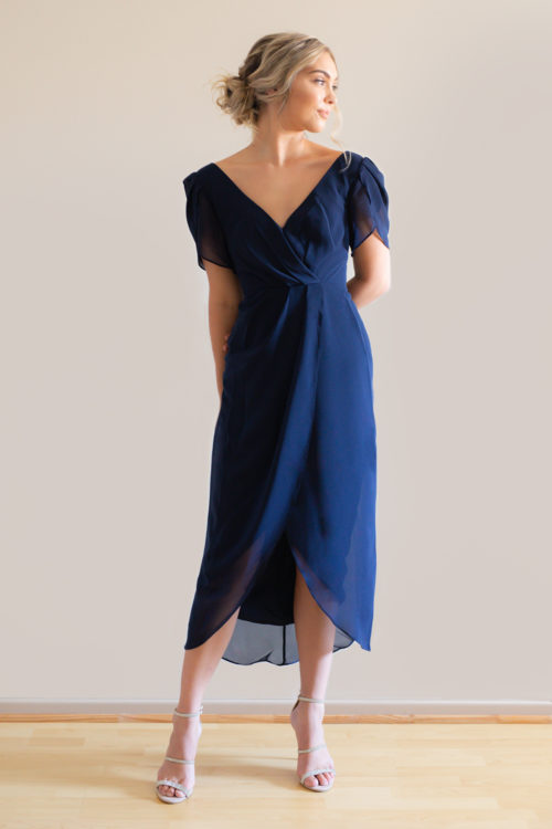 Navy Zara Bridesmaids Dress