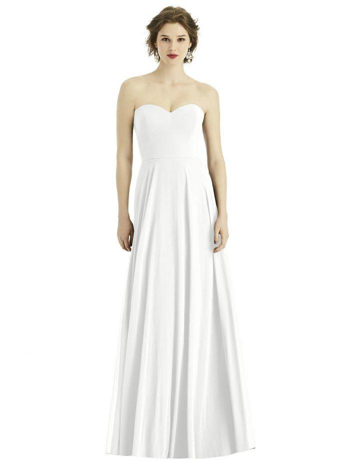Reagan White Bridesmaids Dress by Dessy