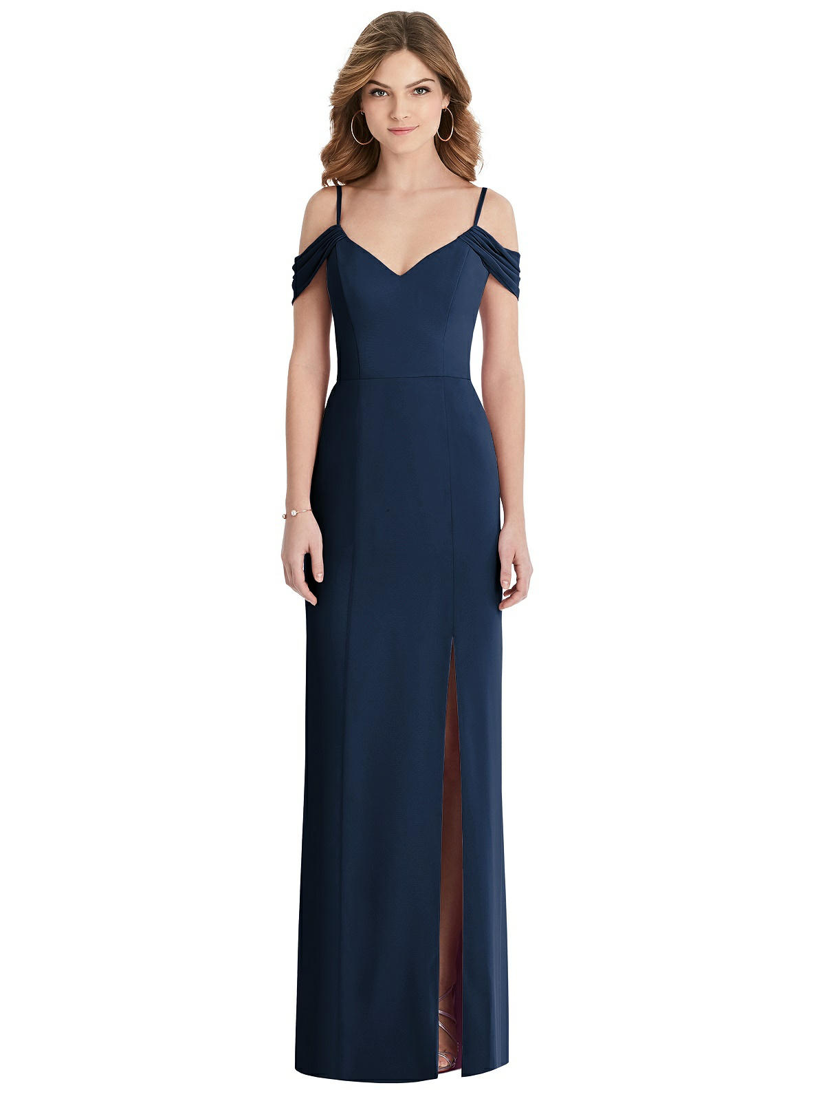 Emmy Midnight Blue Bridesmaids Dress by Dessy