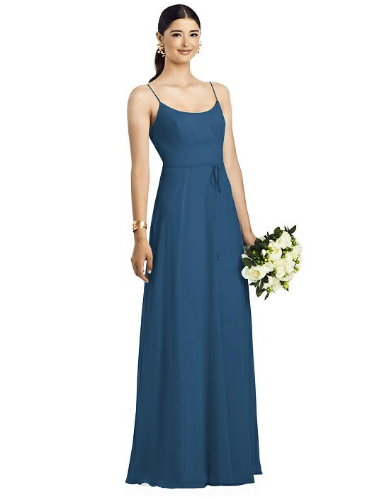 Kaitlin Dusk Blue Bridesmaids Dress by Dessy