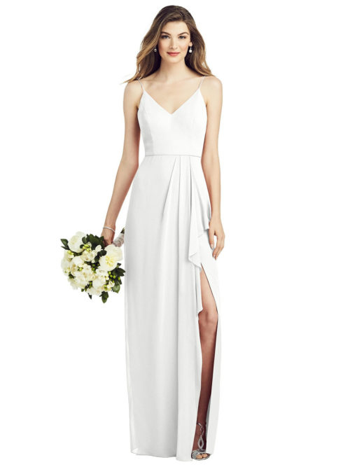 Lauren White Bridesmaids Dress by Dessy