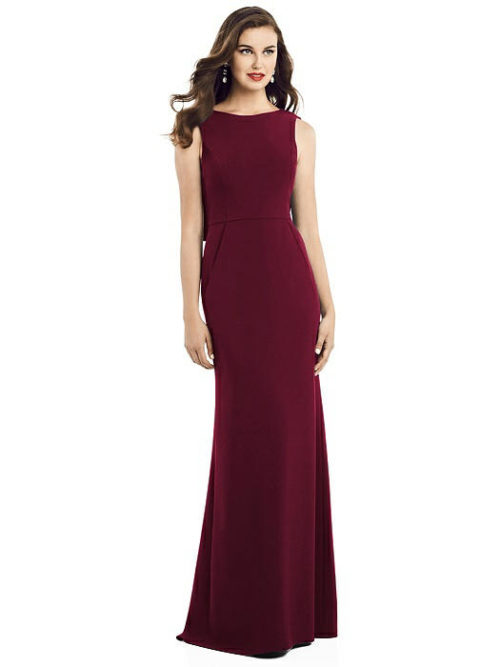 Ivy Cabernet Red Bridesmaids Dress by Dessy