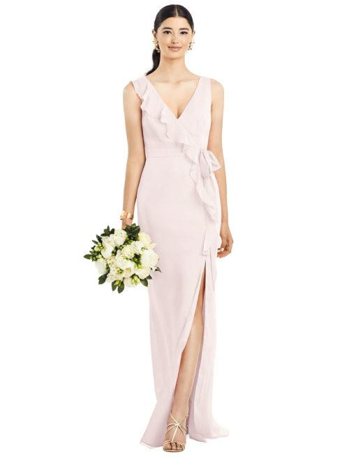 Anabella Blush Pink Bridesmaids Dress by Dessy