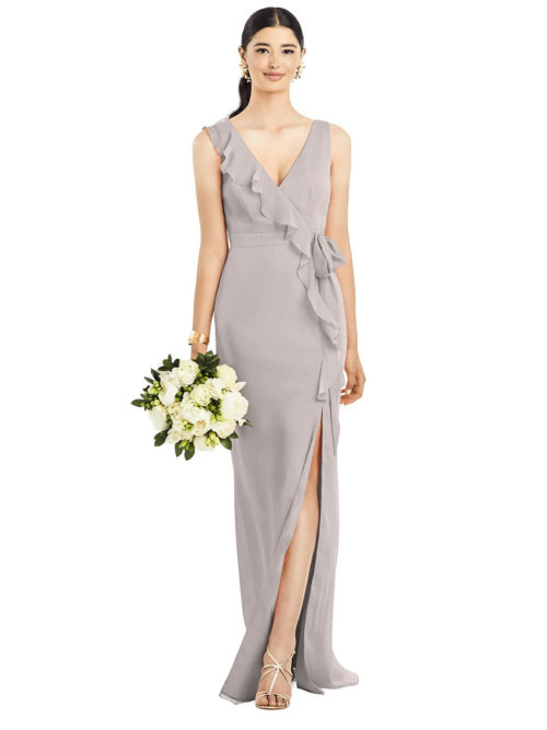 Anabella Taupe Bridesmaids Dress by Dessy