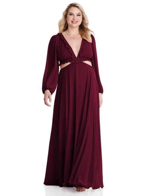 Harlow Cabernet Bridesmaids Dress by Dessy