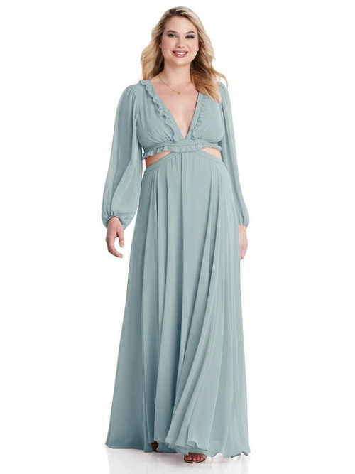 Harlow Morning Sky Bridesmaids Dress by Dessy