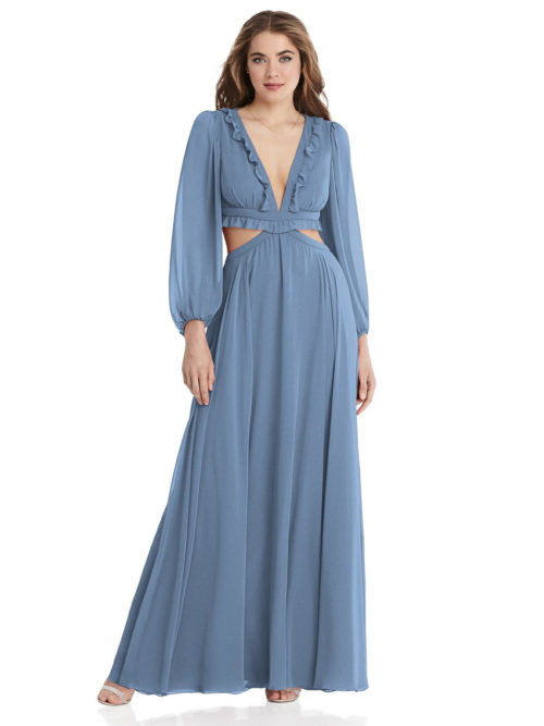 Harlow Windsor Blue Bridesmaids Dress by Dessy