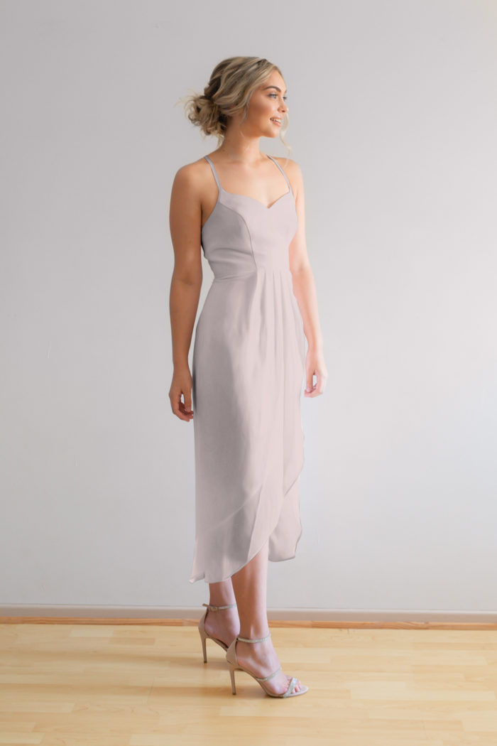 Chloe Bridesmaids Dress Cashmere Oyster