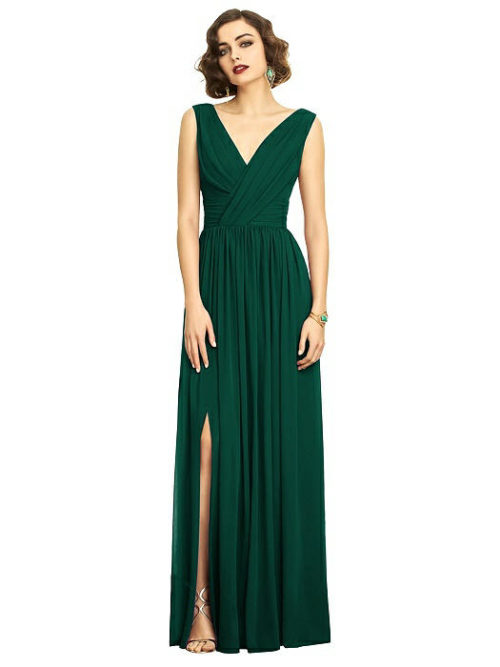 Willow Bridesmaids Dress by Dessy - Hunter Green