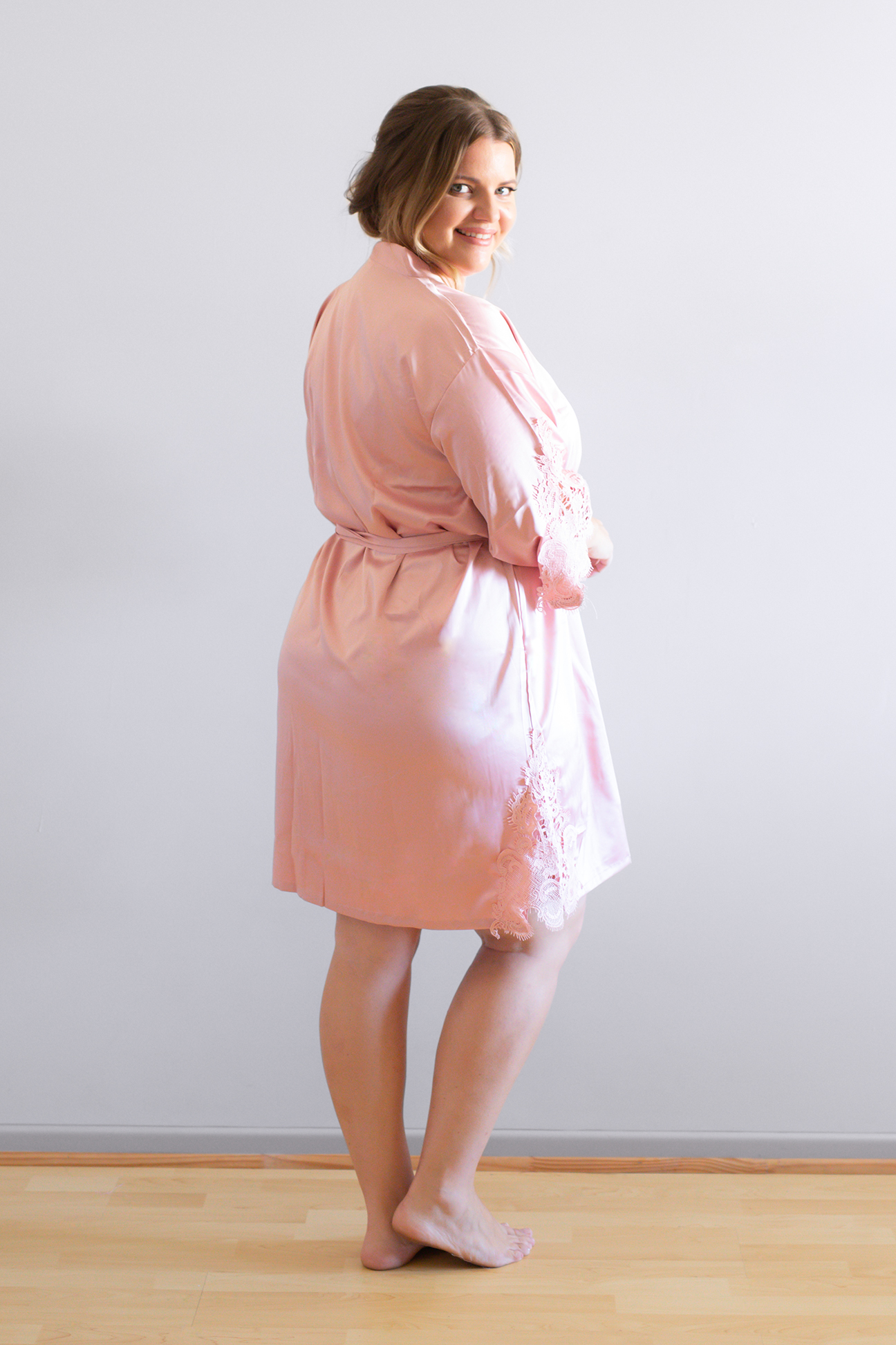 Amelie Dusty Pink Bridesmaid Robes