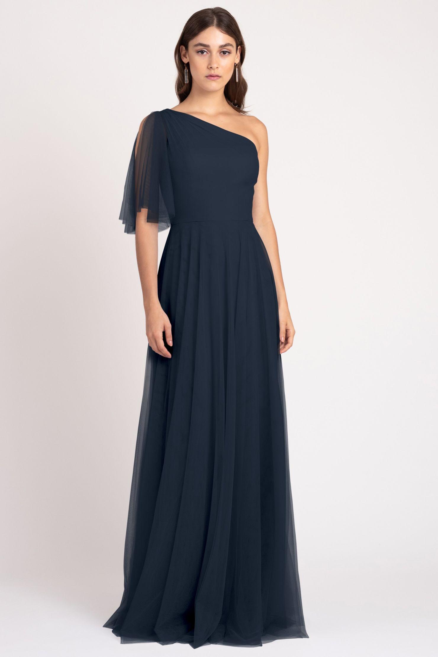 Mallory Bridesmaids Dress by Jenny Yoo - Navy Blue