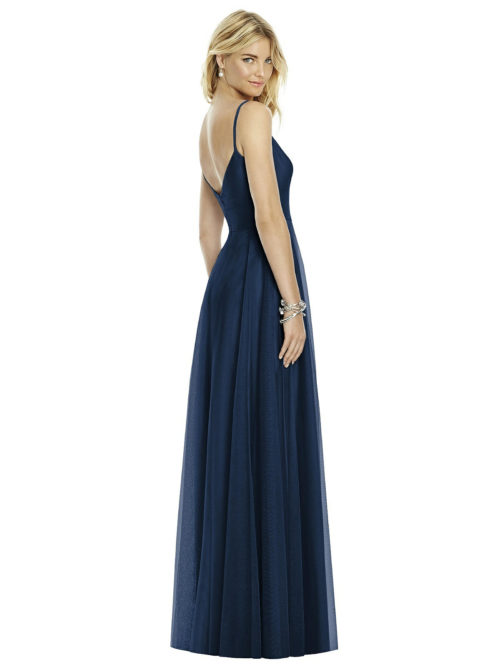 Tasha Midnight Blue Bridesmaids Dress by Dessy