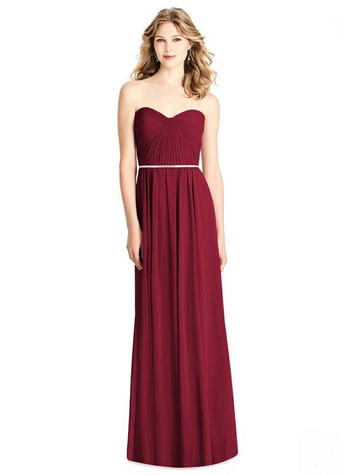 Brooklyn Burgundy Bridesmaids Dress by Dessy
