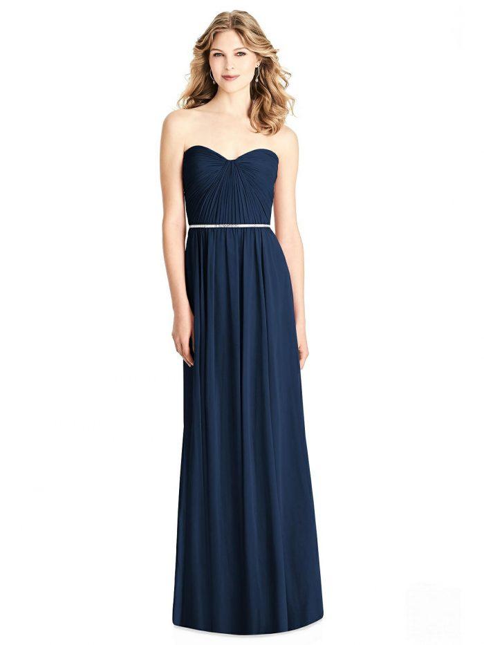 Brooklyn Midnight Blue Bridesmaids Dress by Dessy